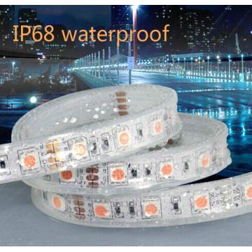 IP67 Silicone SMD5050 / 5630 60LED 10 milímetros de alumínio LED Strip