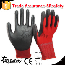 SRSAFTY 13 gauge safety nylon coated nitrile on palm safety working gloves