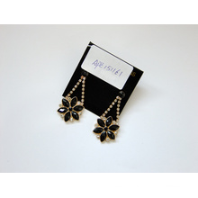 Black Flower Earrings with SGS Approved