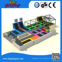 Kidsplayplay Bungee Round Jumping Bett kommerziellen Trampolin Park