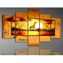 Home Decoration African Art Oil Painting on Canvas (AR-092)