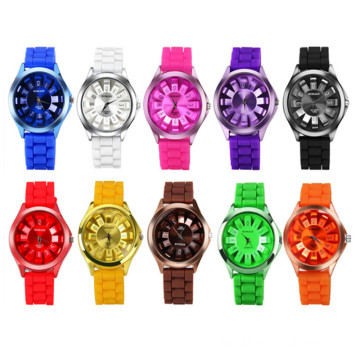 New Boys Girls Silicone Jelly Quartz Wrist Watch