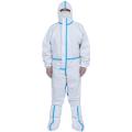 Weiße medizinische Einweg-Schutzkleidung