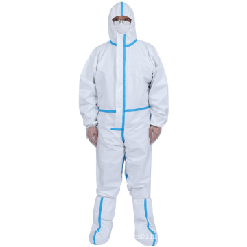 Roupa de proteção médica descartável branca