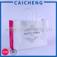 Профессиональная продукция белый крафт бумажный мешок подарков