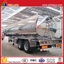 Double Axles Air Suspension Fuel Tank Aluminum Alloy Tanker Trailer