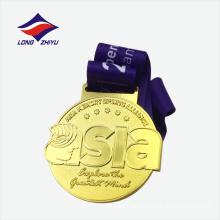 Custom logo Asia running match metal medal