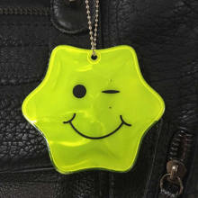 Reflective Smile LED Hanger Tag Keychain with Ce En13356 Certificated
