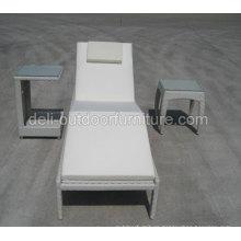 Aluminium Furniture Sun Bed Antique Style Wicker Garden Bed