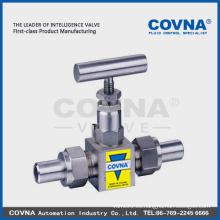 SS alta presión Válvula de aguja / gas oil swagelok Válvula de aguja