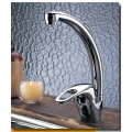 Messing verchromte Schwanenhals Cold Kitchen Sink Taps