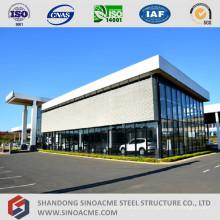 Salle d'exposition de la structure métallique
