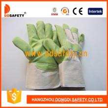 Green PVC Garden Gloves with White Cotton Back Dgp105
