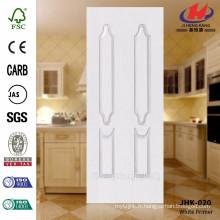 JHK-020 Bonne qualité de l'apprêt blanc Faire à la porte double avec des feuilles inégales Peau de porte