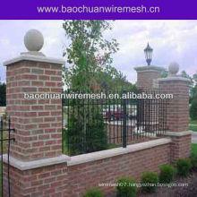 Wrought iron garden wall fence