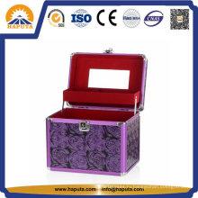 Фиолетовый футляр для хранения косметики (HB-2043)