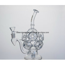 Wholesale Amazing Hydrangea Shaped Glas Water Pipe Smoking Pipe Recycler