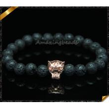 Природные браслеты из бисера из лавы для женщин (CB097)