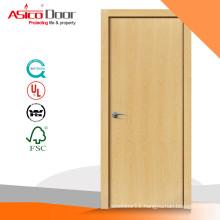 ASICO Oak Veneer Wooden Flush Door Designed For Interior