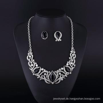 Mode-Nachahmung Black Onyx Halskette Schmuck-Set