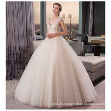 2017 Prinzessin Hochwertige weiße Kristall Perlen Brautkleider Hochzeitskleid 2017 Luxus