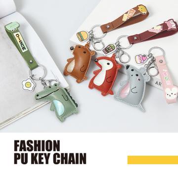 Bunte Tier PU Mode Schlüsselanhänger