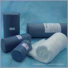 papel de tamanho diferente azul embalado rolo de algodão médica