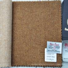 rough plain design tweed fabric
