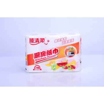 3 Ply White Color Kitchen Sanitary Cleaning Paper