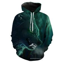 Men′ S Cotton Fleece Hooded Hoody Pull up Hoodie with Custom Printing Hoodie for Men