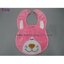 "13 ""Bandana babadores Plush Pink Cat Baby Bibs"