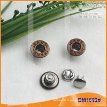 Bouton en métal, boutons Jean personnalisés BM1692
