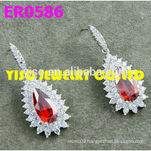 red stone crystal latest earrings