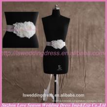 LB0004 Quality fabric best handmade High end flower shaped patels and organza fashion fabric popular wedding belt