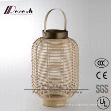 Chinese Hotel Decorative Natural Rattan Hanging Pendant Lamp