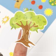Werbegeschenke Kinder Aufkleber Selbstklebende Kinder Aktivität Benutzerdefinierte Kinder Vinyl Gestanzte Aufkleber
