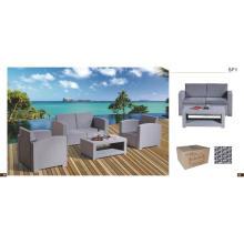 4 местный PP наружный набор диванов