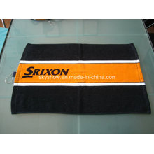 100% Cotton Custom Printed Golf Towel with Hook (SST1508)