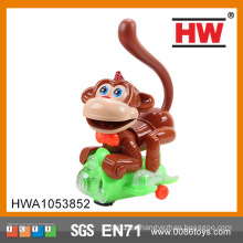 Divertido de plástico de pilas de juguete musical mono musical con luz