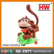Engraçado plástico pilhas musicais brinquedo universal macaco com luz