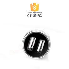 Cargador de coche personalizado USB 2.1A Cargador de coche dual colorido USB 2.0 QC