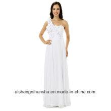 Платье Невесты Одно Плечо Шифон Длинное Вечернее Платье