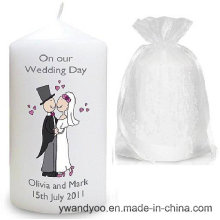 Scented Soy Pillar Candle for Wedding
