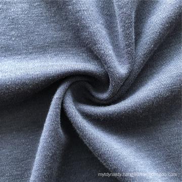 70% cotton 30% hemp interlock knit fabric for t-shirts 230gsm