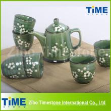 Чайный сервиз высокого качества с ручной росписью