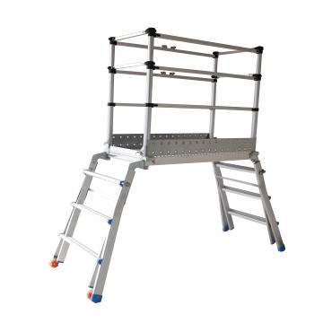 telescopic multi-purpose scaffolding ladder