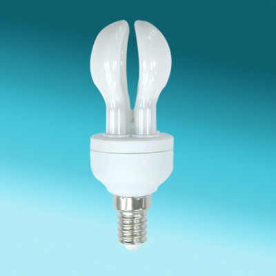 2U Mini Lotus E27 bombilla CFL