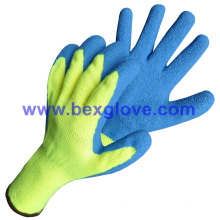 10 Gauge Polyester Liner, Brushed, Latex Coating, Crinkle Finish Glove