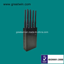 8 Channels Portable Signal Jammer/Cell Phone GPS WiFi Jammer (GW-JN8)