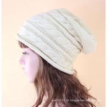 Senhora moda acrílico malha chapéu de inverno quente (yky3136)